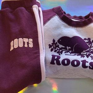 Roots kids sweat suit